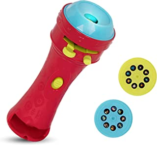 B. toys – Light Me To The Moon – Children'S Projector Flashlight with Image Reels That Make Everything Cosmic & Bright, Red