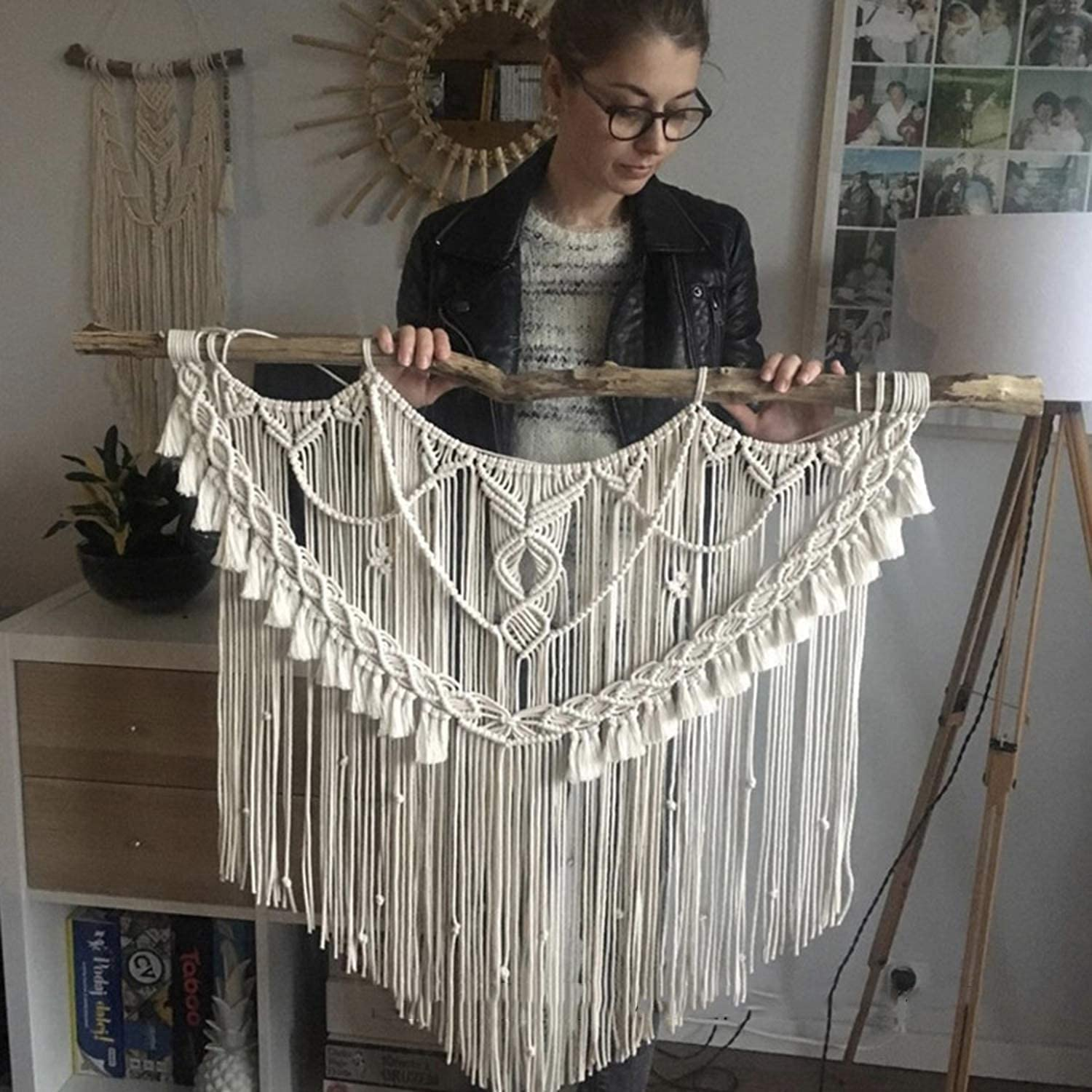 FXBFAG Macrame Super-cheap Wall Hanging Woven Popular products Ta Hand Tapestry Pendant