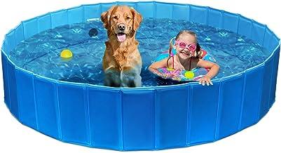 "63"" x 12""/47"" X 12"" Foldable Dog Bath Pool Pet Bathing Tub Dog Swimming Pool Bathing Tub for Pets Dogs Cats Kids Two Sizes"