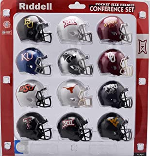 Riddell NCAA Big 12 Helmet Pocket ProBig 12 Conference Set Pocket Pro Speed Style 2018, Team Colors, One Size