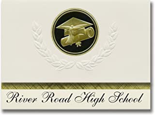 Signature Announcements River Road High School (Amarillo, TX) Graduation Announcements, Presidential style, Elite package ...