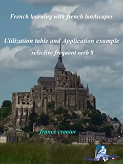 French learning with french landscapes selective frequent verb 8  utilization table and application example