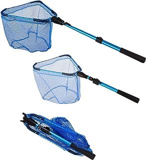 Foldable Fishing net for Steelhead,Salmon,Kayak, Catfish, Bass,Trout Fishing,Telescopic Extending Fish Landing net and Durable Soft Mesh for Catching&Releasing