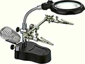 LED Magnifier with Clamps and Soldering Stand