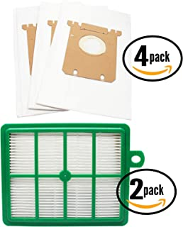 12 Replacement S-Bag Classic Vacuum Bags & 2 EL012B Filter for Electrolux, Eureka - Compatible with Electrolux EL7063A, Electrolux EL4103A, Electrolux EL6986A, Electrolux EL7062A, Electrolux EL4040A, Electrolux EL7060A, Electrolux EL6988E Oxygen, Electrolux EL4100A, Electrolux EL4200A