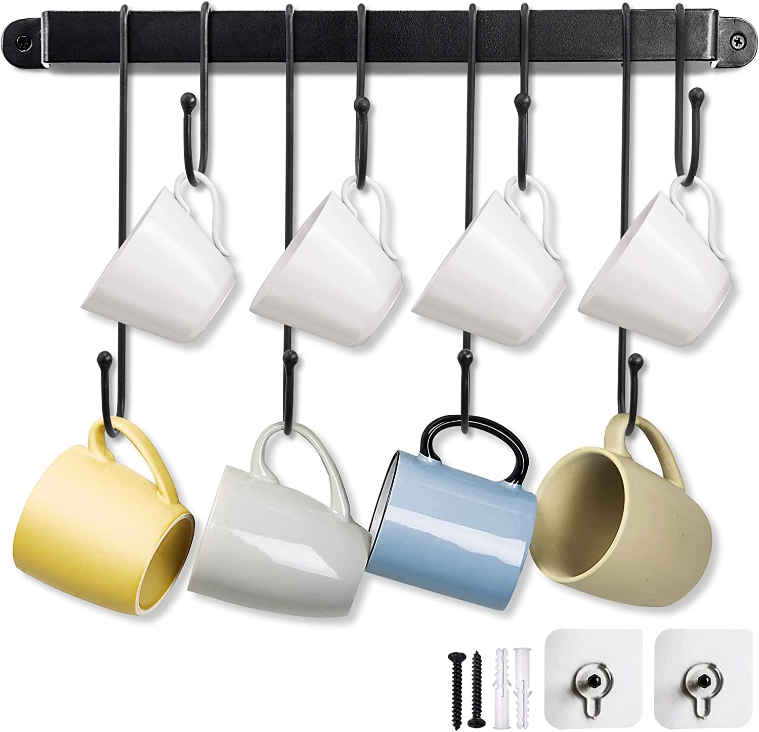 Coffee Mug Translated Rack 17 Inches Wall Rem with and New products, world's highest quality popular! Adjustable