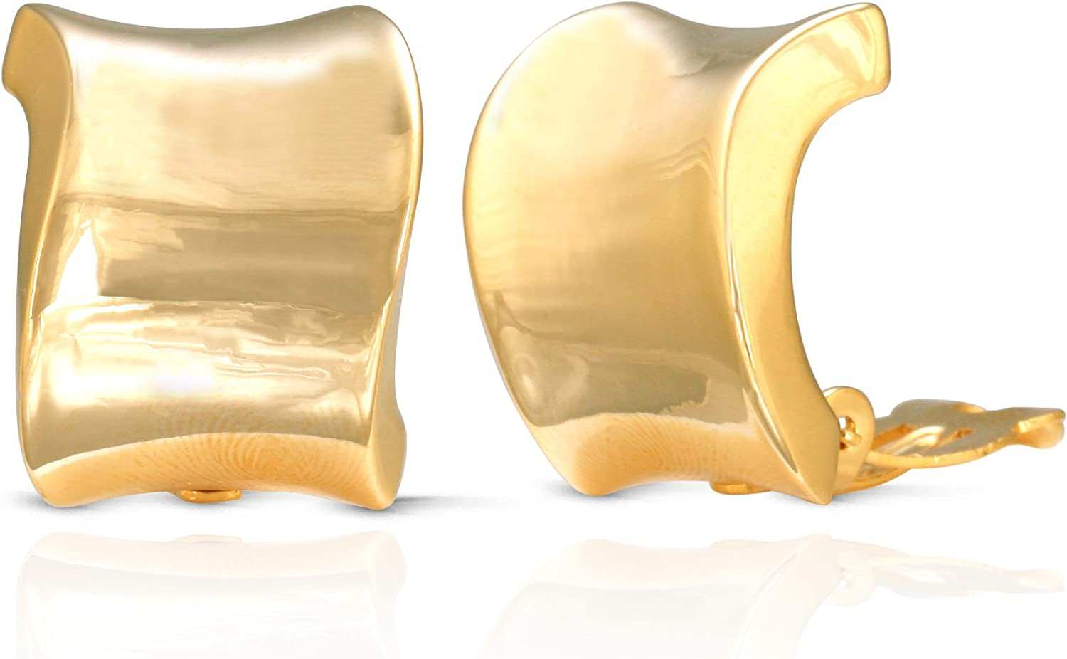 JanKuo overseas Jewelry Gold Plated Shining Cli Finish Super sale Wide Polished Wave