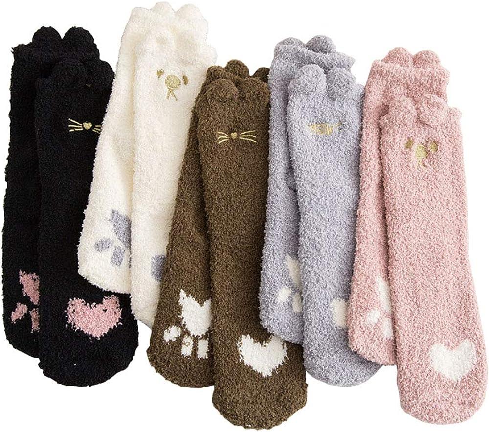 Max 69% OFF Women Soft Cozy Fuzzy Slipper Socks Velvet favorite Winter Coral Fl Warm