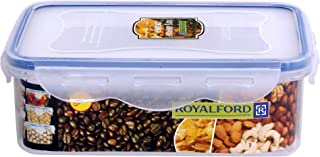 Royalford 1000ml Meal Prep Container   Transparent Food Container   BPA Free, Reusable, Airtight Food Storage Tray with Sn...