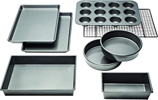 Chicago Metallic Professional Non-Stick 8-Piece Bakeware Set, Silver