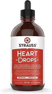 Strauss Naturals Heartdrops - Herbal Heart Support Supplement with European Mistletoe, Aged Garlic Extract 225 ml, Origina...