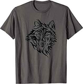 Wolf Tribal Lone Northern Dog Men Women Boys Kids T-Shirt