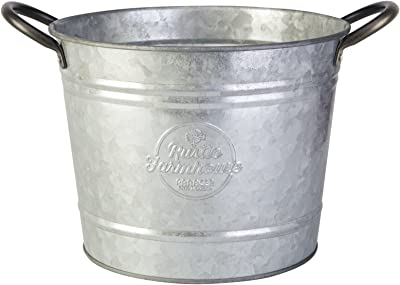 "Panacea 086202 8"" Washtub Planter, Aged Galvanized Finish, 6/cs"