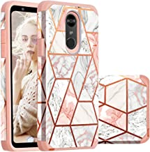 LG Stylo 4 Case,LG Stylus 4 case,Casewind LG Stylo 4+ Plus Case Marble 2 in 1 Rugged Armor PC Soft Silicone Hybrid Shockproof Anti Scratch Dual Layer Protective Phone Case for LG Q Stylus,Rose Gold