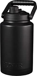 HUNTR Gallon Water Bottle, Vacuum Insulated Triple Wall Stainless Steel, in Silver - with Cleaning Brush Included