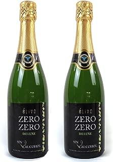 Elivo Zero Zero Deluxe Sparkling Non-Alcoholic Sparkling White Wine 750ml (2 Bottles)