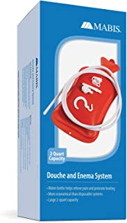 Mabis MABIS Reusable Hot Water Bottle, Enema and Douche Kit Helps to Alleviate Pain Associated with Constipation, Bloating, Aches and Pains, 2 Quart Capacity, 42-842-000, Red, One