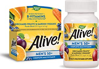 Nature's Way Alive! Men's 50+ Complete Multivitamin, High Potency B-Vitamins, 50 Tablets