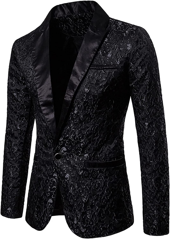 Mens Stylish Dinner Party Prom Wedding Tux Dress Blazer Sliver Sequin Slim Fit Suit Jacket Sport Coat