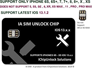 ICHIPUNLOCK CHIP IOS 13.x.x Compatible with iPhone 6S to XS, Unlock AT&T, Verizon, Sprint, T-Mobile, Xfinity, Metro PCS, Boost, Cricket to GSM Networks. DO NOT Support CDMA SIM Cards