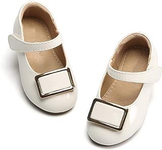 Girls Flat Mary Jane Shoes School Party Dress Ballerina...