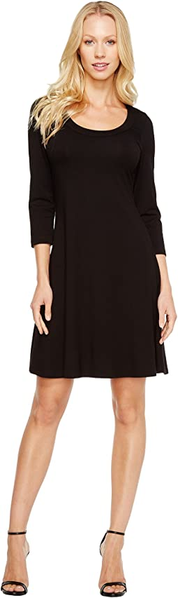 Karen Kane 3/4 Sleeve A-Line Dress