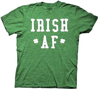 St Patricks Day Irish AF Mens Green Heather T-Shirt