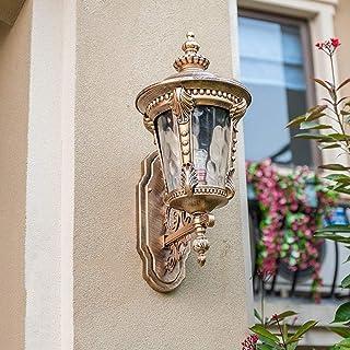 مصابيح حائط تقليدية أوروبية خارجية من WYlucky مصنوعة من الألومنيوم المقاوم للماء ومصابيح الجدار E27 ديكور كلاسيكي خارجي