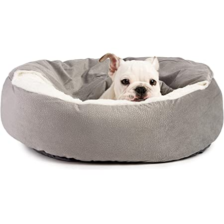 Cozy Cuddler Luxury Orthopedic Dog and Cat Bed with Hooded Blanket for Warmth and Security - Machine Washable, Water/Dirt Resistant Base, Multiple Color in 2 Sizes