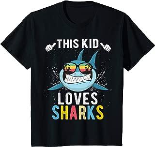 Kids This Kid Loves Sharks Boys and Girls Shark Gift T-Shirt