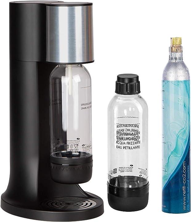 gasatore 2 bottiglie in pet e cilindro di co² per aggiunta di anidride carbonica levivo set starter b017wnekn0
