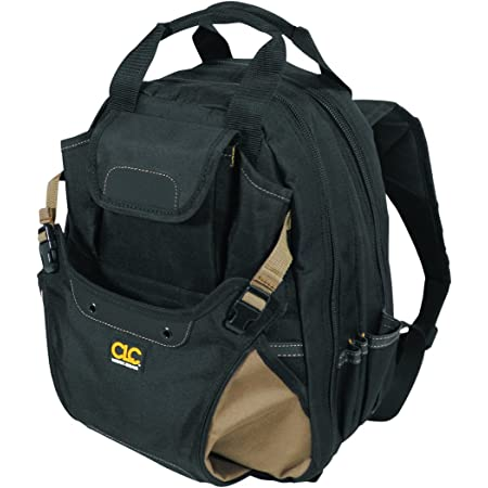 CLC Work Gear 1134 Carpenter's Tool Backpack, 44 Pockets, Padded Back Support