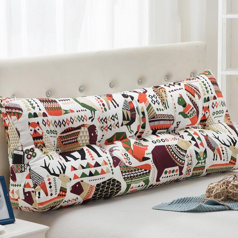WOFULL Bed by fibre matériel animal monde Soutenu par coin oreiller 60-200cm (taille   1.5m)