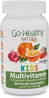 Go Healthy Natural Multivitamin Gummies for Kids, Vegetarian, OU Kosher, Halal (60 ct) 30 Serving Immune Support Vitamin C...