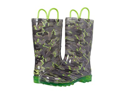 Western Chief Kids Surf Camo Lighted PVC Boot (Toddler/Little Kid) Boy