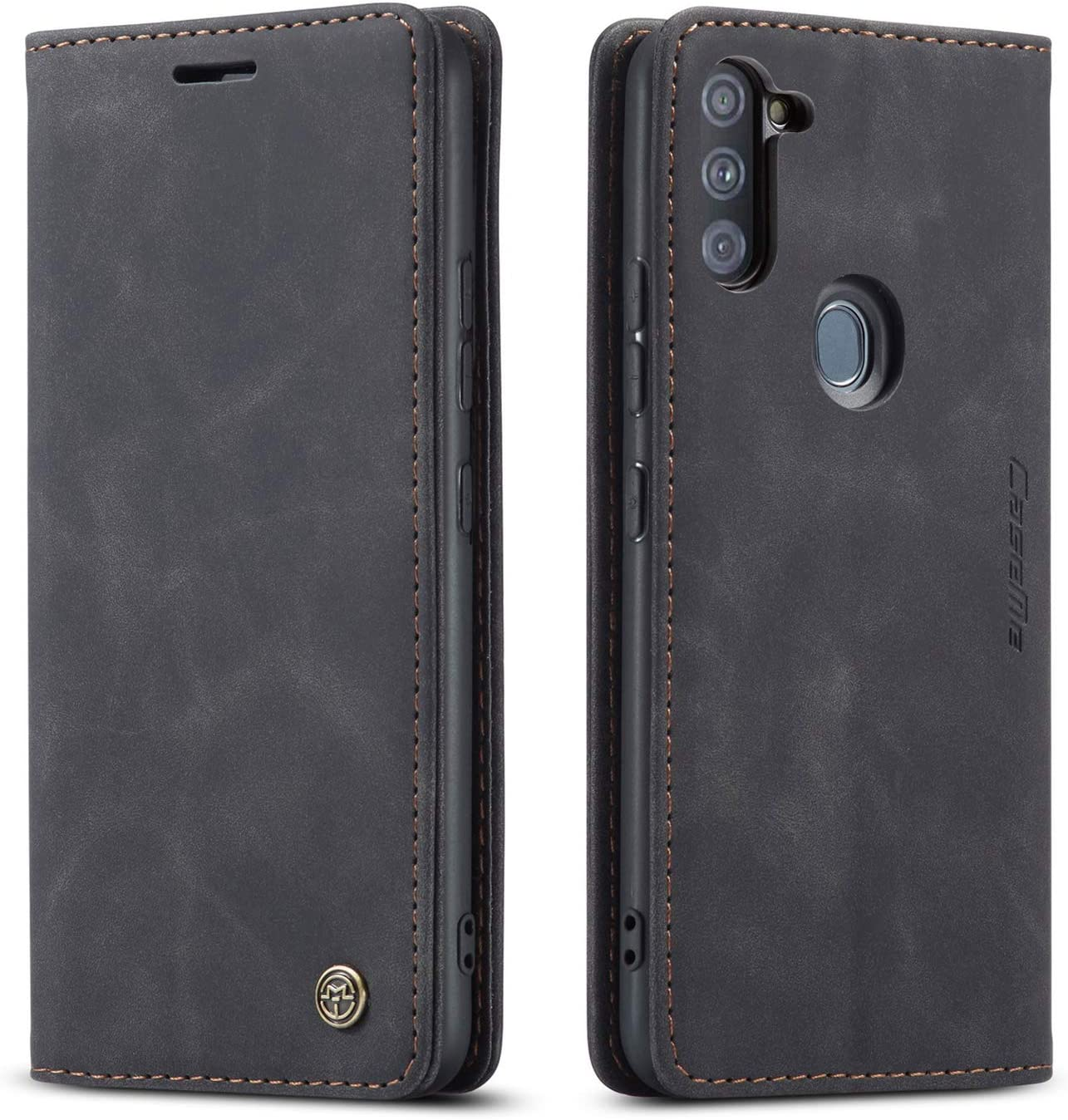 Samsung Galaxy A11 Case,Galaxy A11 Wallet Case with Card Holder,Magnetic Stand Leather Flip Case Cover for Samsung Galaxy A11(2020) 6.4 inch (Black)