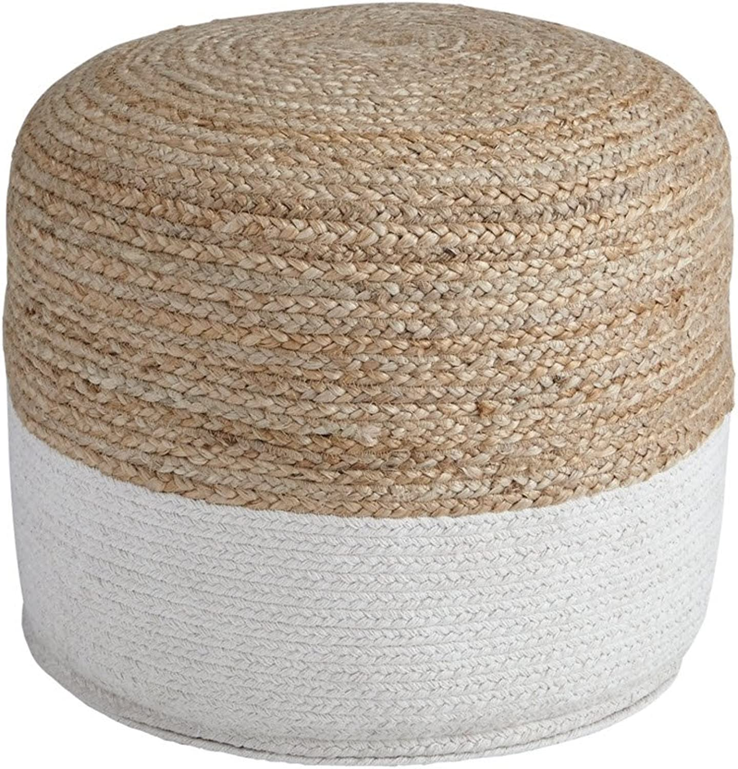 Signature Design by Ashley A1000420 Pouf, Natural White