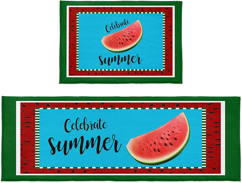Chucoco 2 Piece Floor Kitchen Area Watermelon Fa Sets Bargain sale Rug Ranking TOP11 Summer