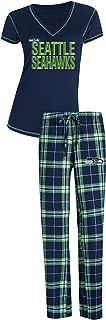 Concepts Sport Seattle Seahawks NFL Super Duo Women's T-Shirt & Flannel Pajama Sleep Set