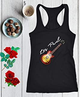 Electric Guitar Gibson Racerback Tank Top Les Paul 50s 60s Classic Jazz Blues Country Tribute Music Gift Women Premium Tank Tops