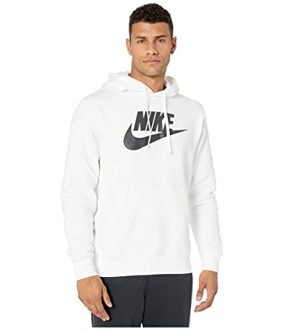 Nike NSW Club Hoodie Pullover Graphics (White/White/Black) Men
