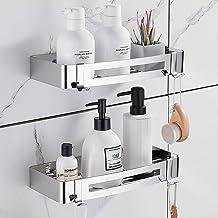 Hoomtaook badkamer douchehoek driehoekige hoekplank douchewand doucheplank, zonder boren, geen schade aan muurbeugel, voor...