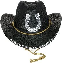 Something Special Rhinestone Bling Horseshoe Cowgirl Straw Cowboy Hat
