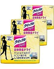 【まとめ買い】クイックルワイパー 床用掃除シート ドライシート 40枚入 × 3個