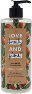 Love Beauty and Planet Shea Butter and Sandalwood Body Wash by Love Beauty and Planet for Unisex - 16 oz Body Wash, 480 mi...
