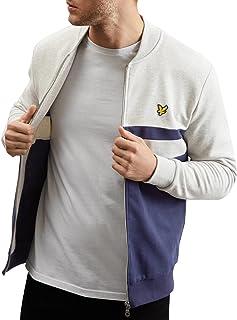 Lyle & Scott Men's Yoke Stripe Bomber Sweatshirt