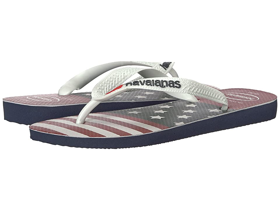 Havaianas Top USA Stars and Stripes Flip-Flops (Navy Blue) Men