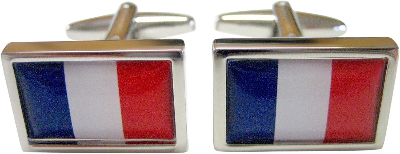 Bordered France Flag Cufflinks