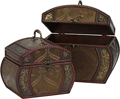New Decorative Chests (Set of 2) Brown