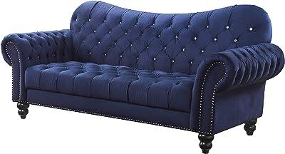 Amazon.com: Muebles de América Isabella Tufted tela sofá en ...